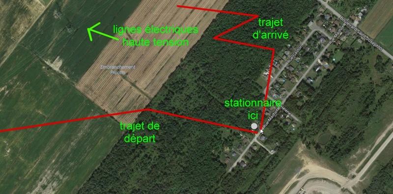 1977: le 06/09 à 20h30 - Une soucoupe volante - Saint-Majorique (Drummondville) /Québec, Canada Terrai10