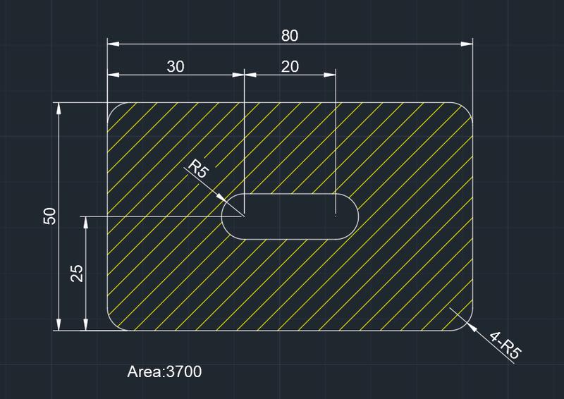 AutoCAD教學 幾何圖形習題01 Izia10