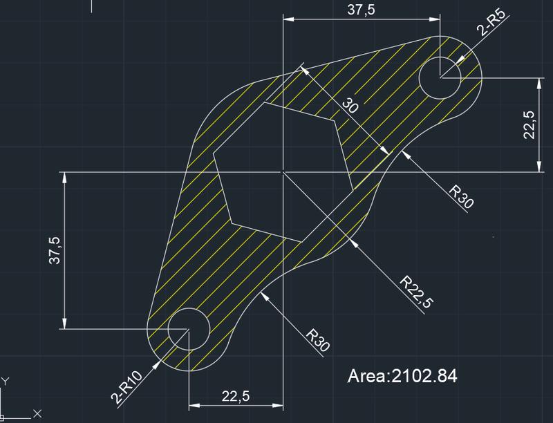 AutoCAD教學 幾何圖形習題02 Izia11