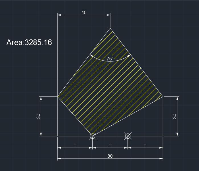 AutoCAD教學 幾何圖形習題06 Izia15