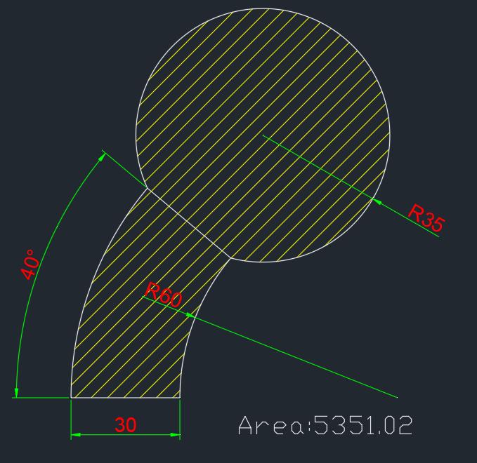 AutoCAD教學 幾何圖形習題08 Izia17