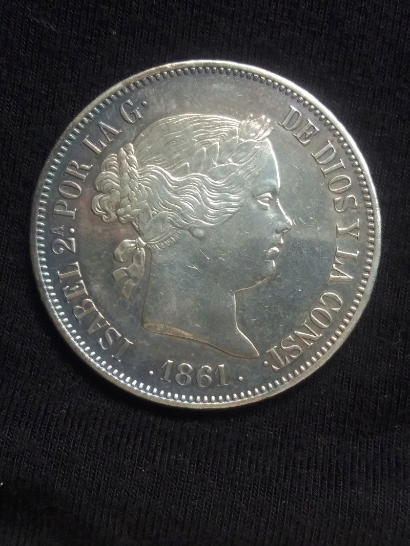 20 Reales 1861. Isabel II. Madrid 20180115