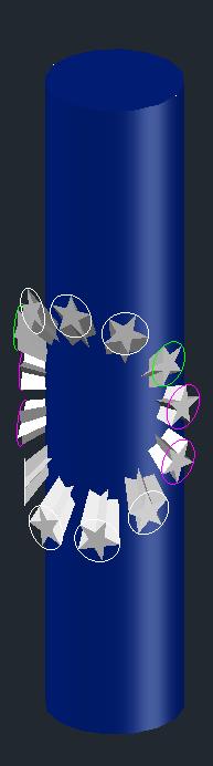 [問題]星星圓形陣列環繞在圓柱有些問題 0210