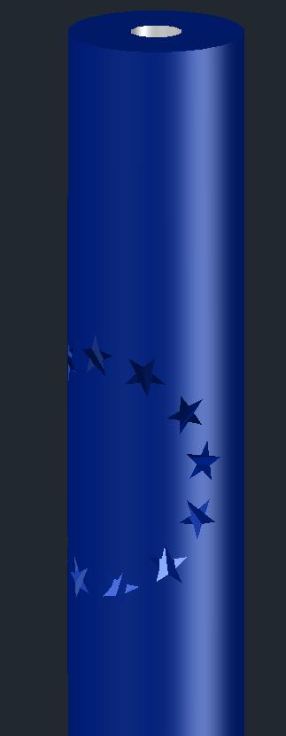 [問題]星星圓形陣列環繞在圓柱有些問題 2018-011