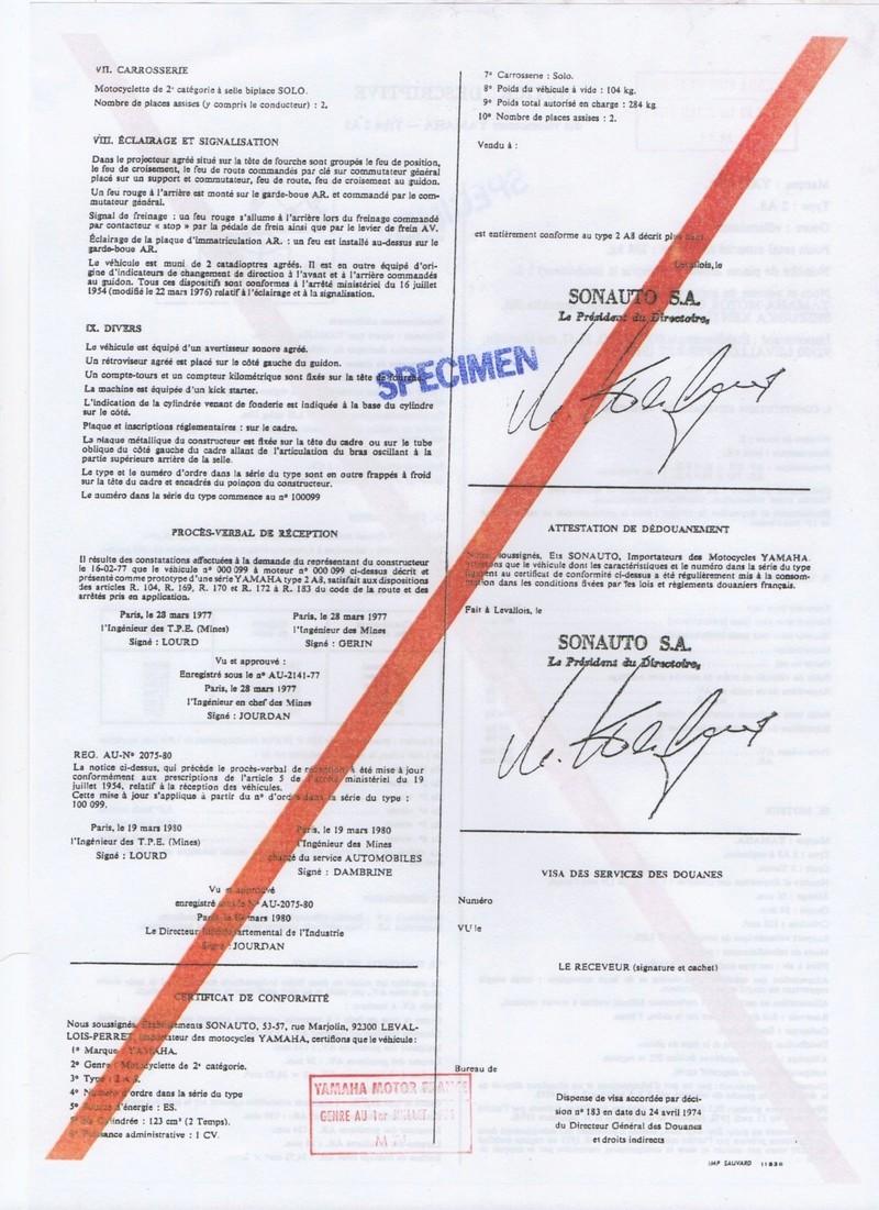 Feuille des mines ou certificat de conformité  125 DTMX Notice14