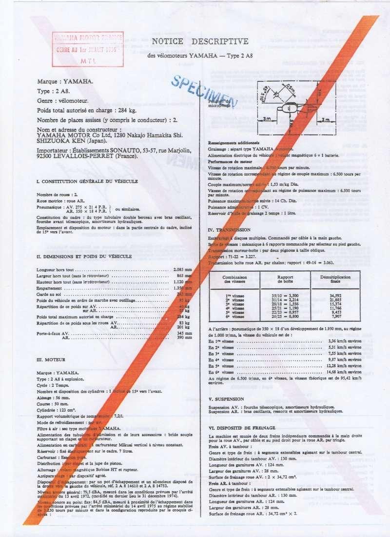 Feuille des mines ou certificat de conformité  125 DTMX Notice15