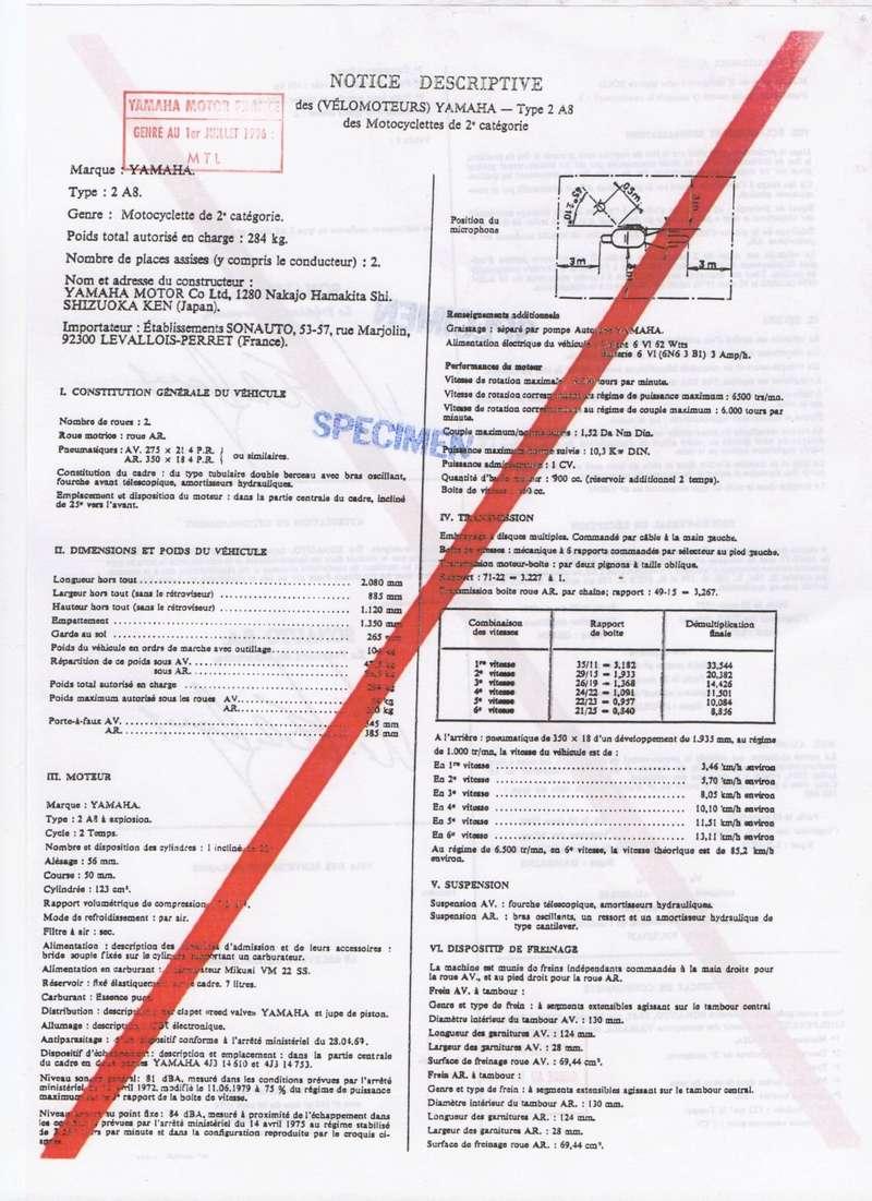 Feuille des mines ou certificat de conformité  125 DTMX Notice16