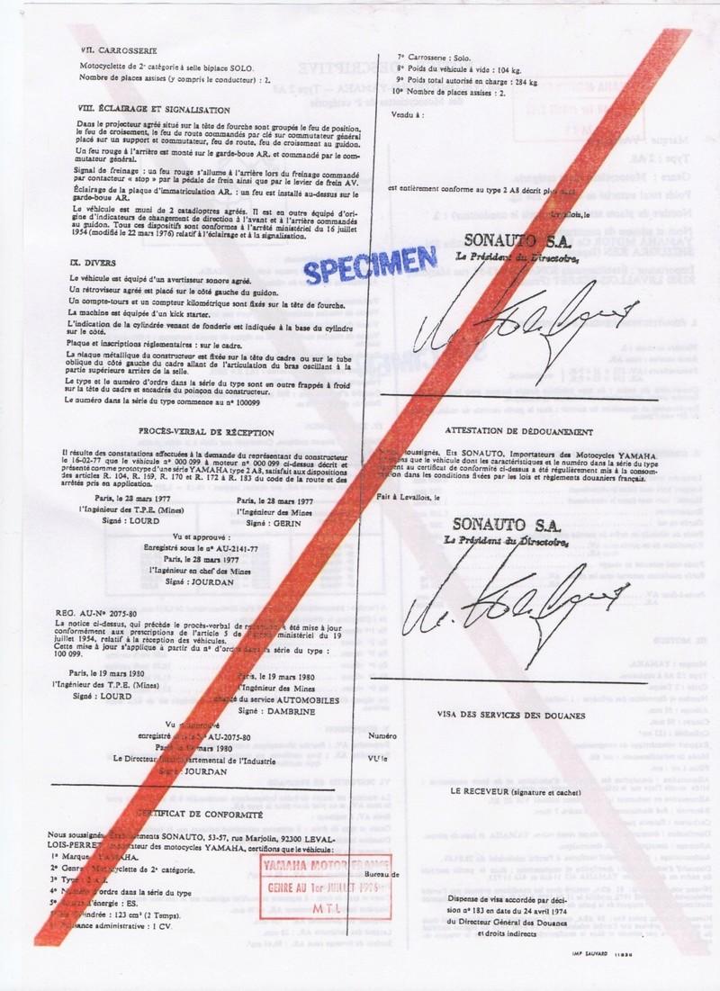 Feuille des mines ou certificat de conformité  125 DTMX Notice17