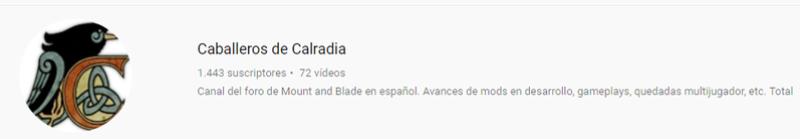 Caballeros de Calradia Canal de Youtube Deskto10