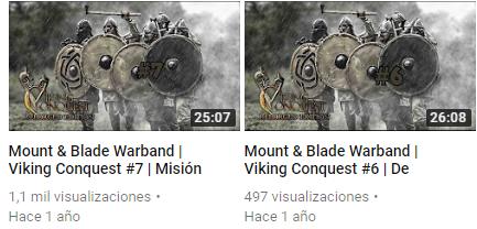 Caballeros de Calradia Canal de Youtube Deskto12
