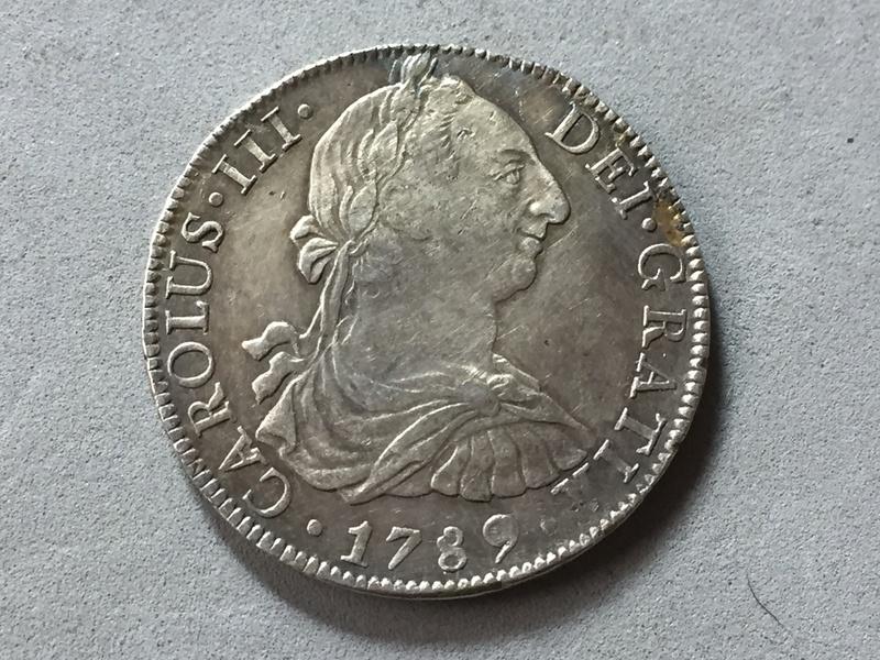 8 reales Carlos III 1789 Mexico Img_6918