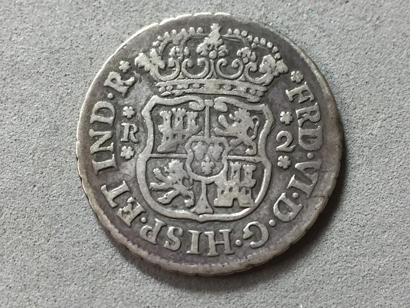 2 reales Ferdin VI 1751 Mexico . Img_6920