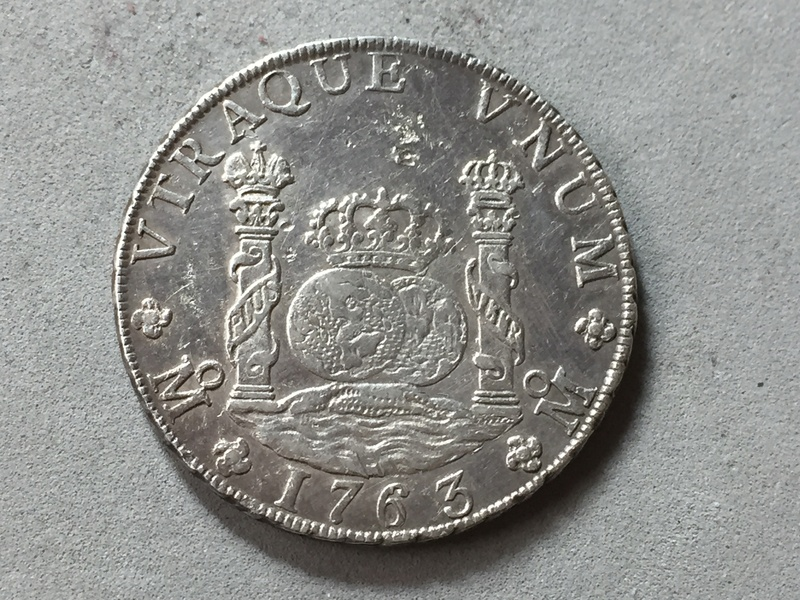 8 reales Carlos III 1763 Mexico Img_6924