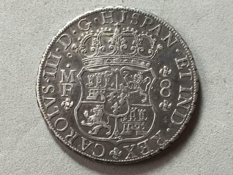 8 reales Carlos III 1763 Mexico Img_6925