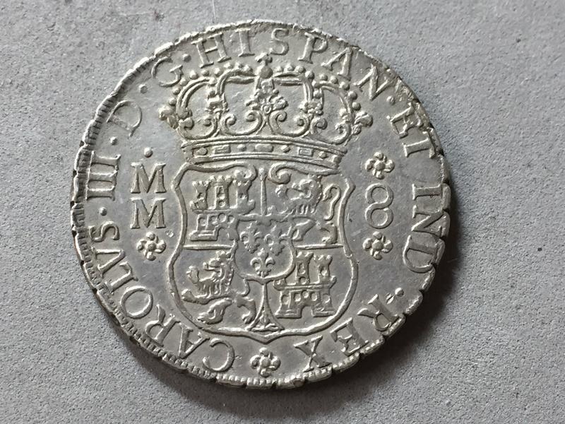 8 reales columnario Carlos III 1760 Mexico . Img_6928