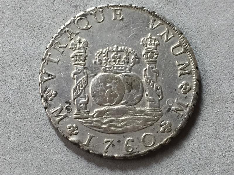 8 reales columnario Carlos III 1760 Mexico . Img_6929