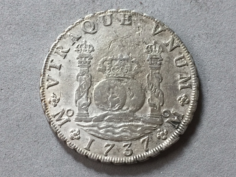 8 reales 1737 , columnario Mexico . Img_6930