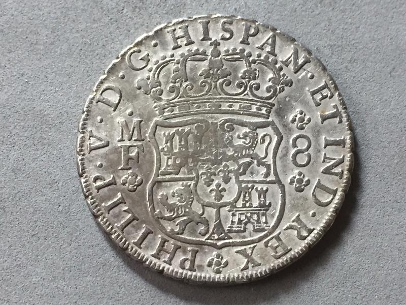 8 reales 1737 , columnario Mexico . Img_6931