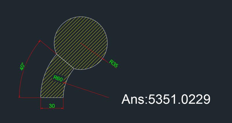 AutoCAD教學 幾何圖形習題08 Oeu210