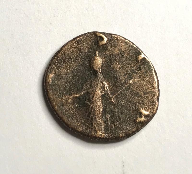 Antoniniano de Salonina. VESTA. Vesta estante a izq. Roma 251r10