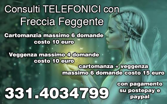 cartomante veggente freccia veggente eseguo consulti telefonici a basso costo, chiama: 331.4034799 26238910