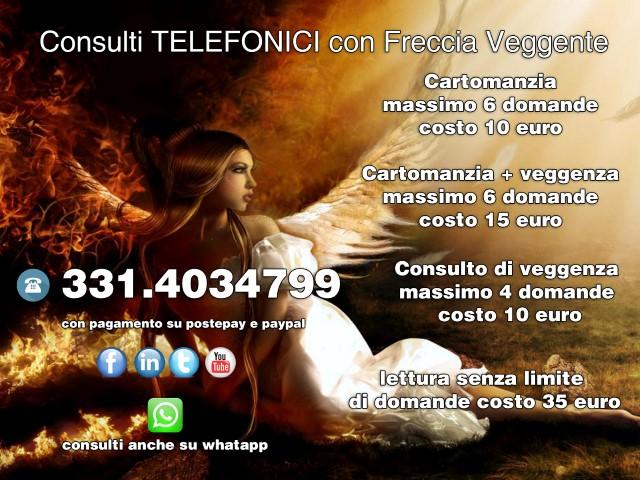 CONSULTI PROFESSIONALI CON FRECCIA VEGGENTE 331.40.34.799 Pubbli14