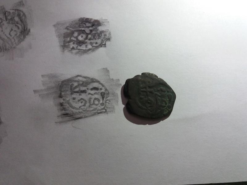 8 Maravedis de Felipe III/IV resellados posteriormente a VIII mrvs. de 1641-2, 8 mrvs. de 1651-2 y reacuñación del anagrama a IIII mrvs. de 1658-9. 20180132