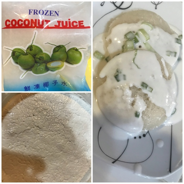 Steamed Cow Cake Using Fresh Coconut Juice w/ Natural Plant Coloring 061cb310