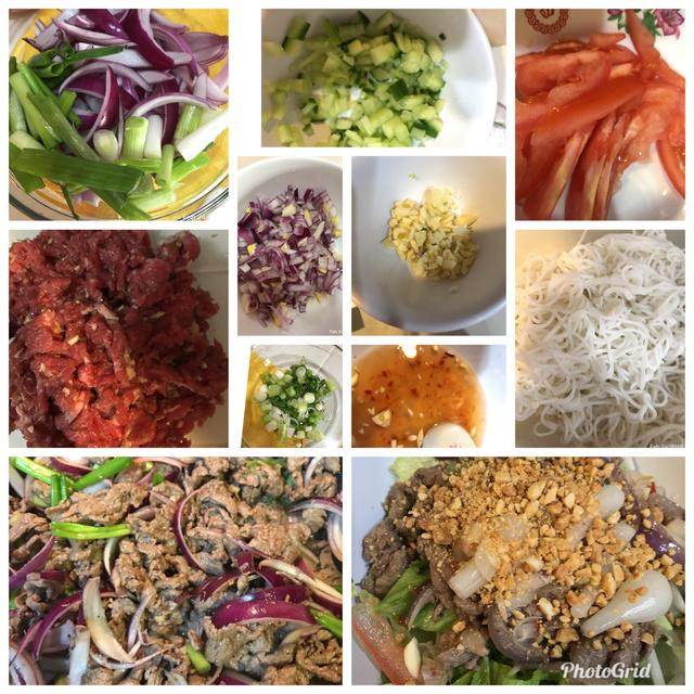 Lemongrass Beef with Vermicelli Noodles aka Bun Bo Xao Xa Me  6d776a10