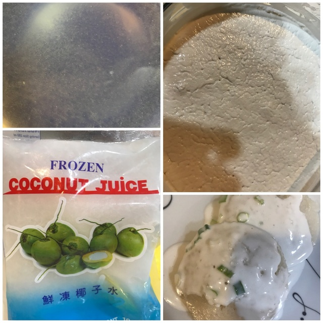 Steamed Cow Cake Using Fresh Coconut Juice w/ Natural Plant Coloring 8c46ec10
