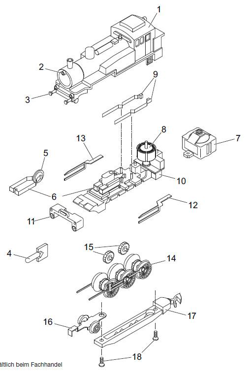 Desmontar locomotora 81562 024410