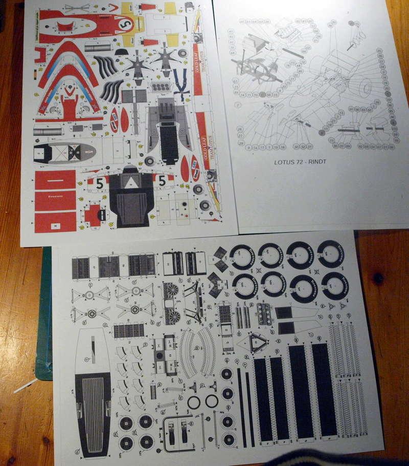 Fertig - Lotus 72 von Jochen Rindt 1970 freier Download von Papercraftsquare gebaut von Kubi P1014543
