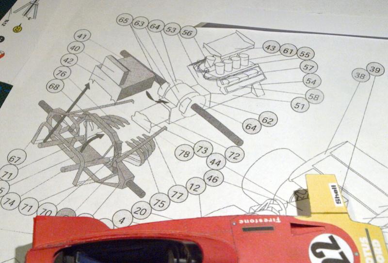 Fertig - Lotus 72 von Jochen Rindt 1970 freier Download von Papercraftsquare gebaut von Kubi P1014560