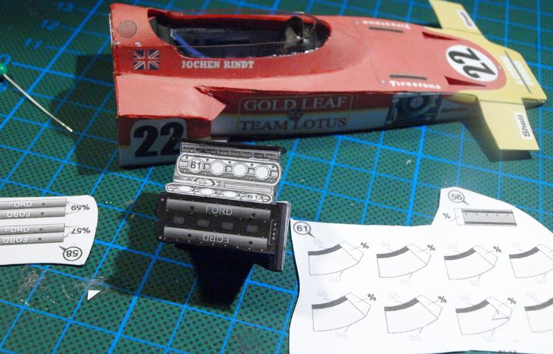 Fertig - Lotus 72 von Jochen Rindt 1970 freier Download von Papercraftsquare gebaut von Kubi P1014610
