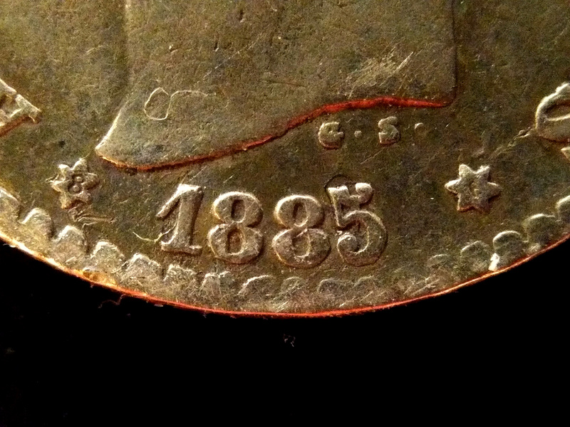 50 céntimos 1885 (*8-6). Alfonso XII  Detall11