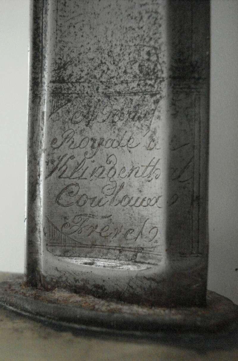 Sabre Gendarmerie Royale 1817 Marqua18