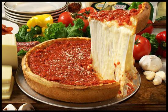 Deep Dish stuffed pizza chicago.  Croppe10