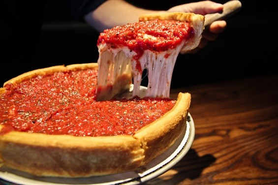 Deep Dish stuffed pizza chicago.  Patxid10