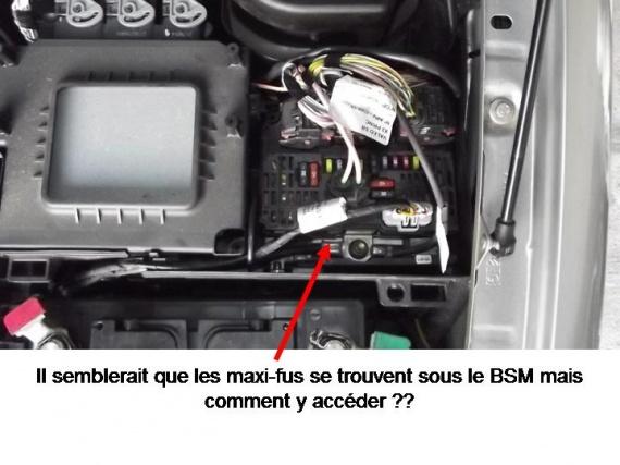 [ Citroen C5 V6 3.0 HDI 240 an 2010 ] recherche emplacement maxi fusible du système hydraulique Img-3010