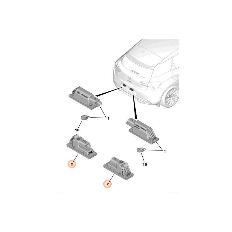 Bombillas de matricula: como cambiar las bombillas por led...paso a paso. - Página 2 Plafon10