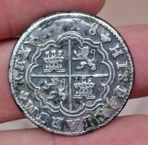 2 Reales Felipe V Cuenca 1718  224