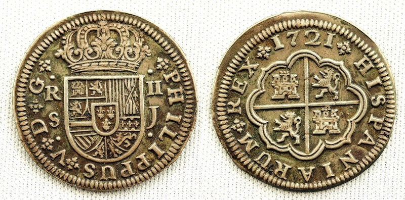2 Reales Felipe V Sevilla 1721 S-l16014
