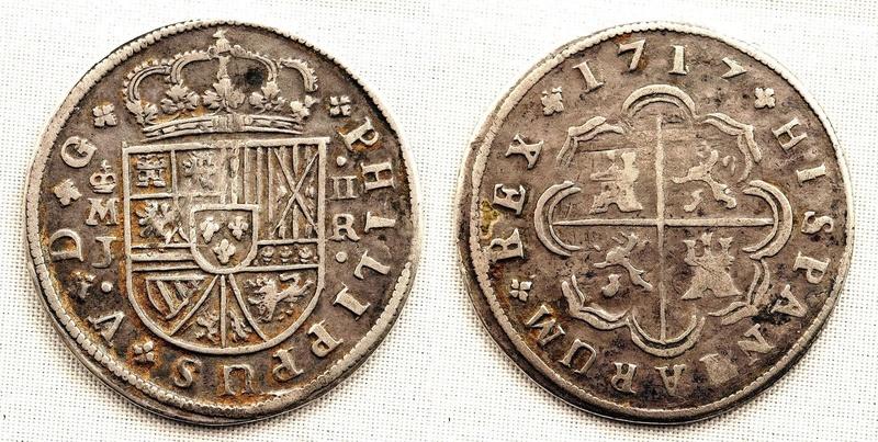 2 Reales Felipe V Madrid 1717  S-l16015
