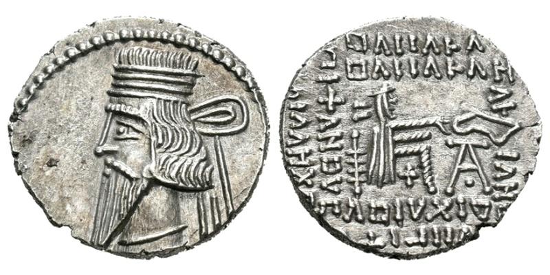 Dracma de Vologases III Ecbatana, 105-147 d.C. Vologa12