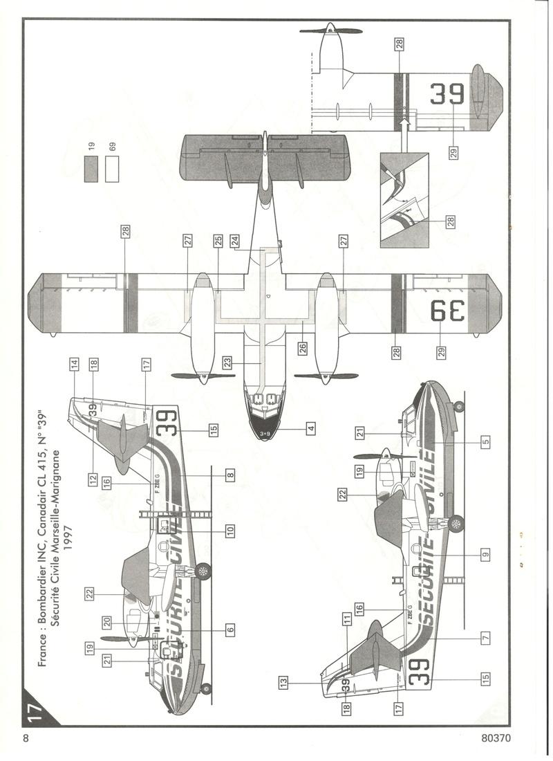 CANADAIR CL 415 1/72 Réf 80370 Heller19