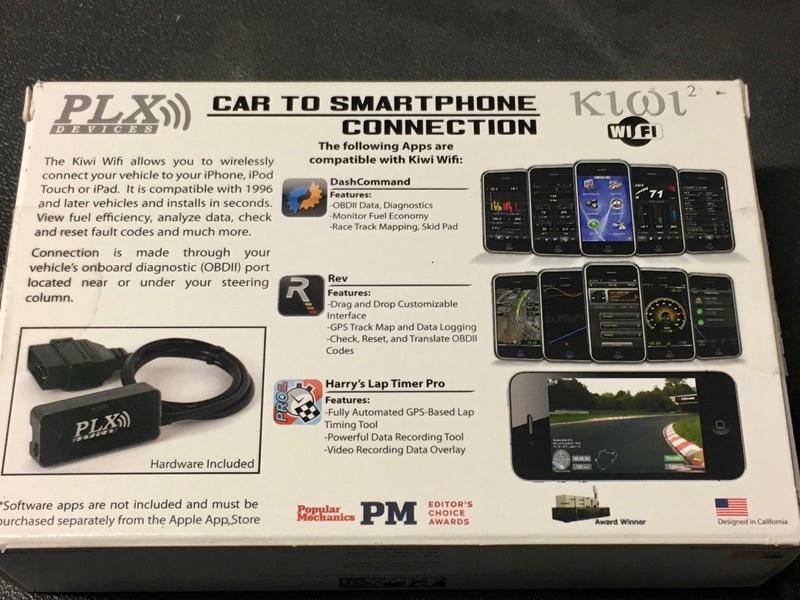 Interfaccia PLX Kiwi 2 Wifi per iPhone Diagnosi OBD2 S-l16012