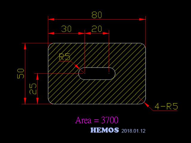 AutoCAD教學 幾何圖形習題01 Autoca10