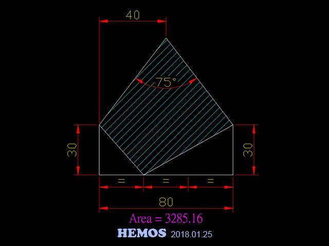 AutoCAD教學 幾何圖形習題06 Autoca16