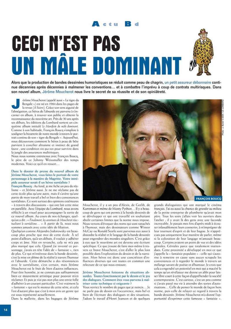 Francois Boucq, un style oscillant entre réalisme cru et humour absurde - Page 3 Zoo_4310
