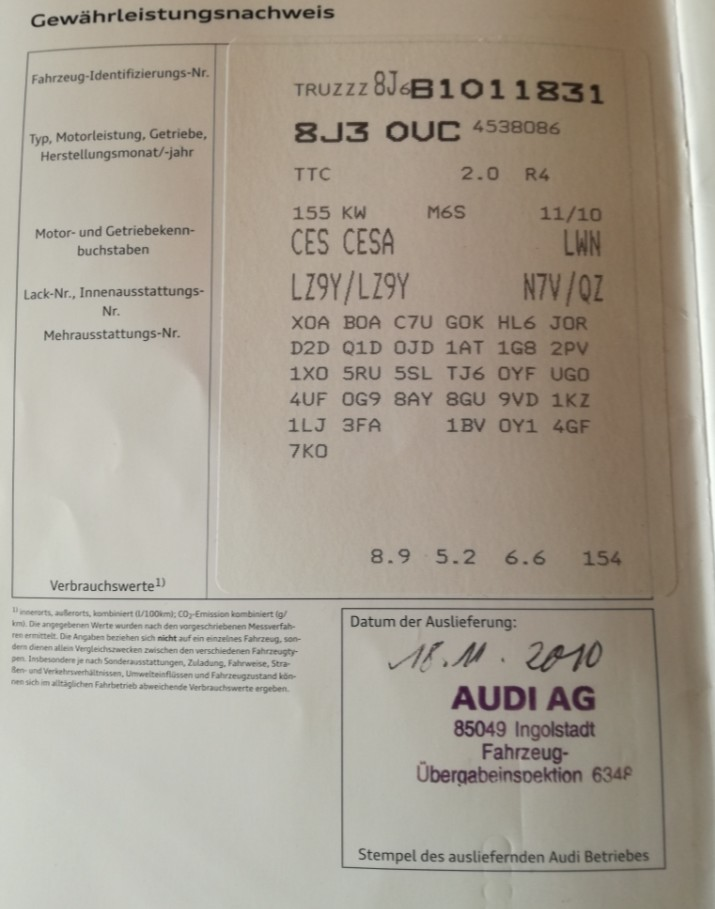 Audi TT 2.0L. TFSI  211CV  S-Line Quattro 1yre_p10